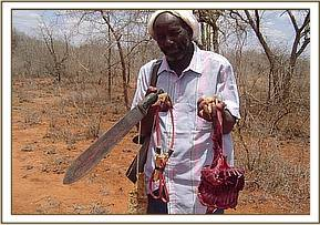 Herdsman with Dickdik meat