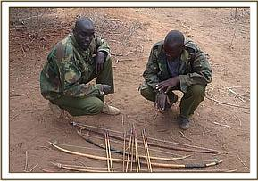Confiscated weapons at soysambu