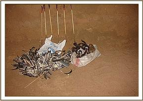 bushmeat and poachers equipment