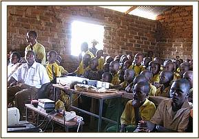 Tsavo School watching film
