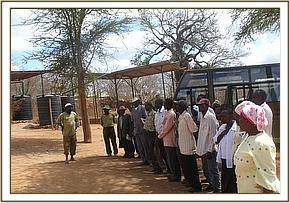 Chyulu community visitng the DSWT at Ithumba