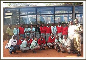 A group photo at education centre