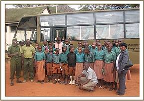 A group photo at the education centre