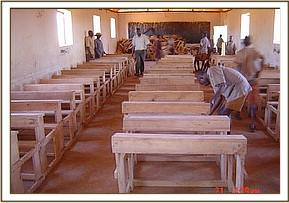 School desks at Maktau pri sch
