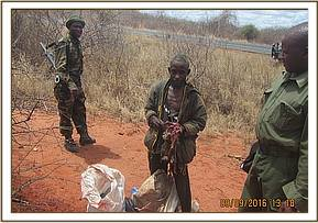 a mad man arrested along  the highway with dikdik
