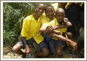 Kikwasuni pupils at the mzima springs