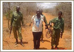 The poacher arrested at Kishushe