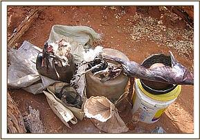 Items found in a poachers hideout