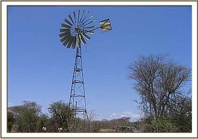 The Kijito windmill in need of repair