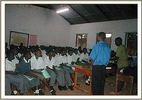 lecture on wildlife at a school