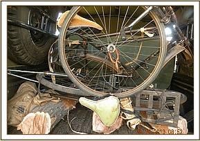 Bicycles and logs recovered from poachers