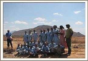 kighononyi students at Mudanda rock