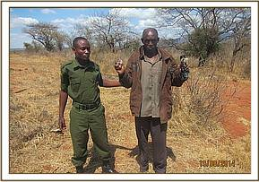 An arrested elephant poacher from Kitui