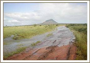 Flood water at Ndii
