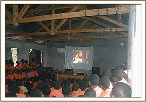 Video show at Gimba primary