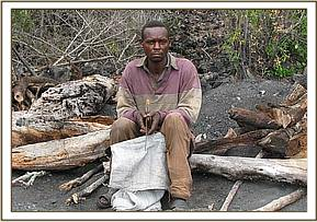 One of the arrested charcoal burners