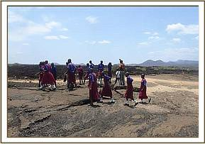 Muusini pupils at shetani lava