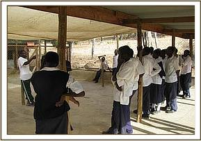 Kasaala students at the Ithumba dog unit