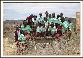 Ngwate pupils at the croccodile point