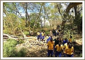 Nzoila pupils at the Mzima Springs