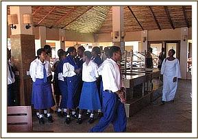Alan Mjomba students at Ashnil lodge