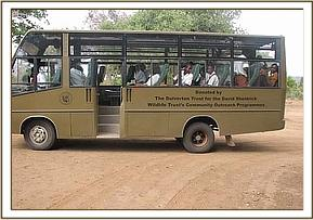The DSWT bus with students aboard it