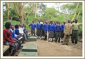 Ngomano pupils at Mzima springs