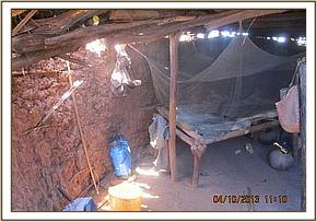 Inside a suspected poacher hideout.