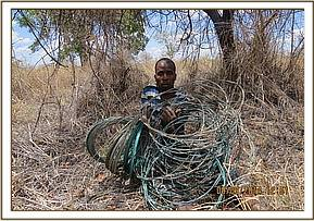 A man arrested with snares