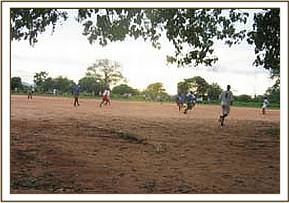 The youth engaged in a football competition