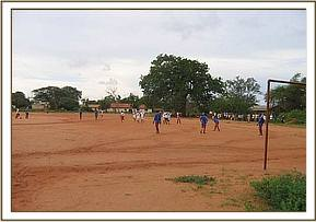 Youth in a football competition at Kasaala