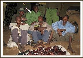 Poachers arrested with bush meat