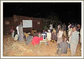 The Jasho community arrive to see the film