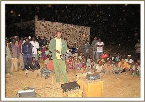 Wildlife film screening in the Jasho community