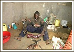 A poacher arrested in the village