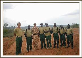 The desnaring team leaders with the British Army