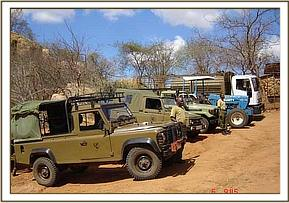 Vehicle inspection at Ithumba by US Trustees