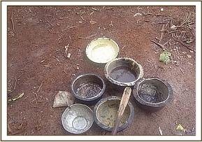 Some pans recovered at the poachers hideout