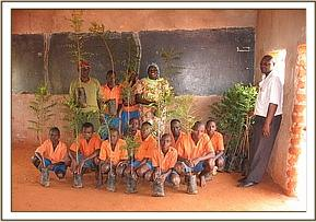 Tree seadlings donated to Iviani primary school