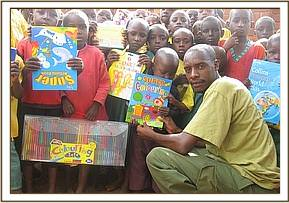 Handing over school supplies to Ngiluni primary