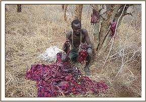 Fresh bush meat recovered from an arrested poache