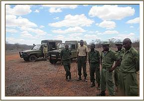 Mtito team with the DSWT vet unit