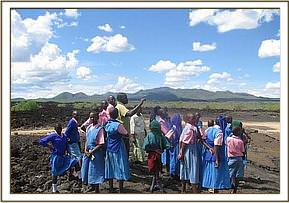 Kawelu pupils at shetani lava