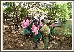 Kithasyo pupils at Mzima springs