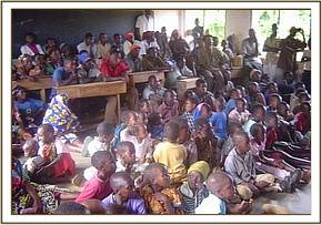 Godoma community during the video show