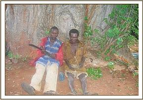 The two poachers arrested at Kona Ya Nyati