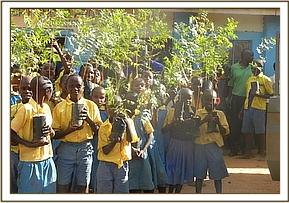 Tree seedlings donation at Kavunguwa  Primary