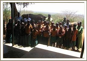 Mnegwa primary at Voi stokade during thier trip