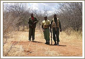 Team with KWS searching for source of gun shots