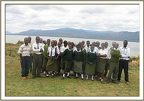 Mwema secondary at Lake Jipe
